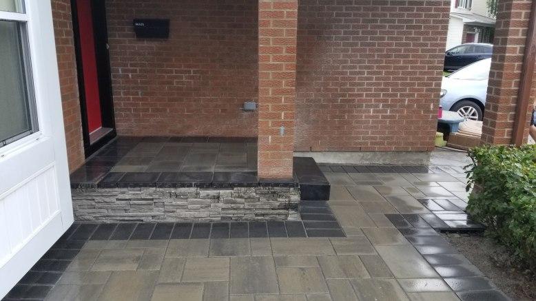 Interlock concrete overlay